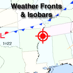 Weather Fronts w/Isobars